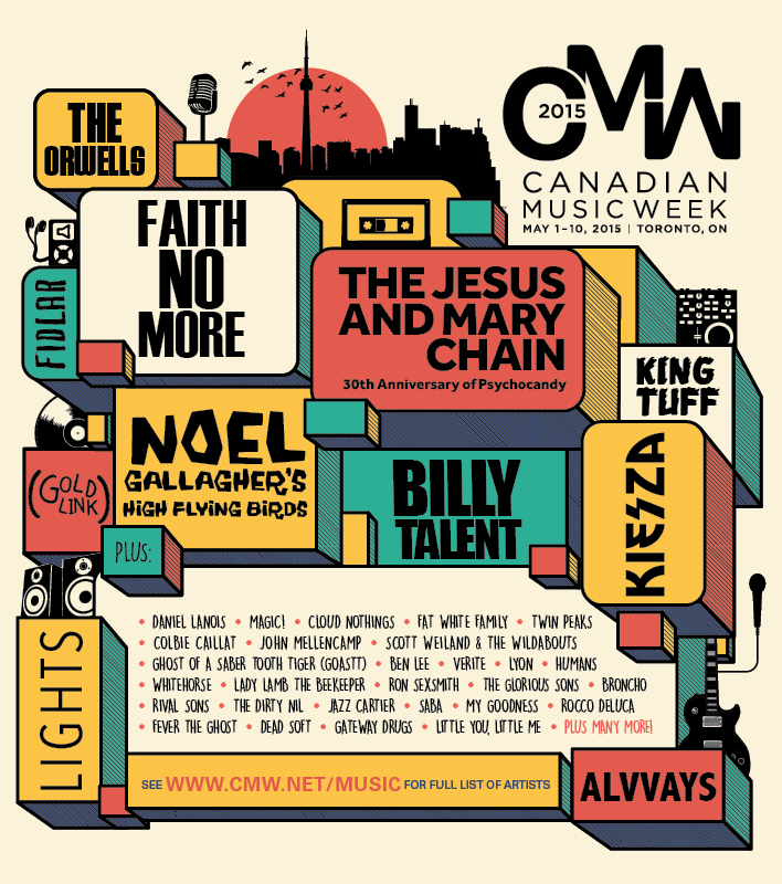 Canadian Music Week Announces Headlining Performers 2015