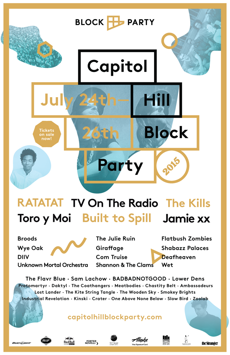 Capitol Hill Block Party Lineup Poster 2015