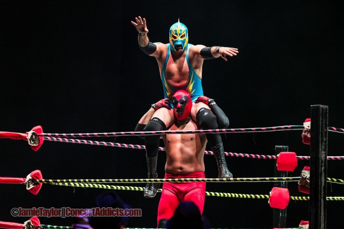 Luchafer performing at the Queen Elizabeth Theatre in Vancouver