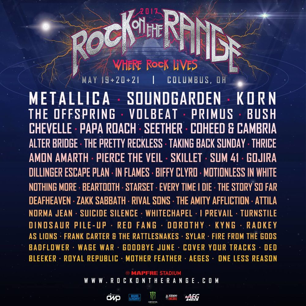 Rock On The Range 2017 at MAPFRE Stadium