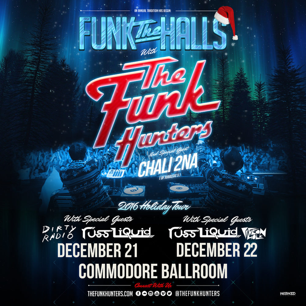 Win Tickets to The Funk Hunters w/ Chali 2na at Commodore Ballroom (Vancouver) *CLOSED*