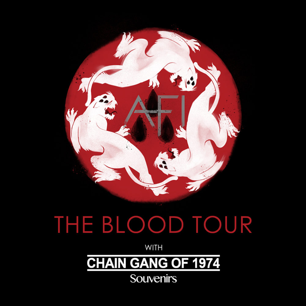 afi the blood tour poster chain gang of 1974 poster 2017