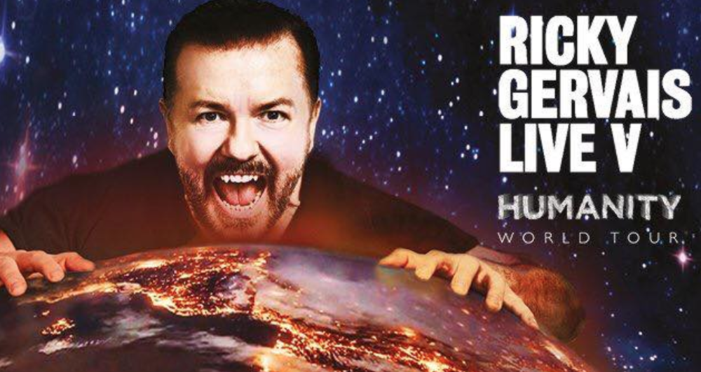 Ricky Gervais Is Going On A European and North American Tour