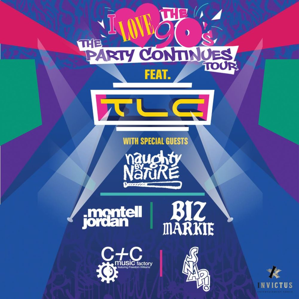 I Love The 90's Tour ft. TLC + Naughty By Nature + Montell Jordan + Biz Markie + C+C Music Factory + Snap! at Abbotsford Centre