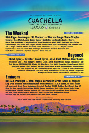 Coachella Valley Music and Arts Festival  - APRIL 13TH, 2018 - APRIL 15TH, 2018 - admat poster lineup