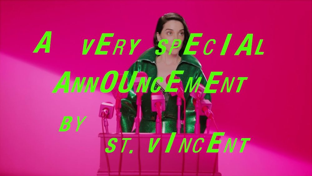 "St. Vincent Announces ""Fear The Future"" Tour"