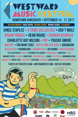 westward music festival - Vancouver - Sep 14-17 2017 - lineup poster