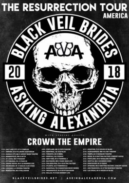 Black Veil Brides + Asking Alexandria co-headlining 2018 tour admat