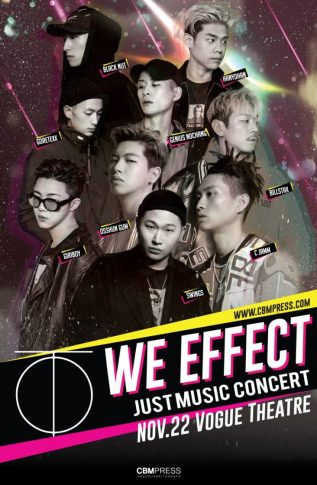 We Effect Tour ft. Swings + C Jamm + Ossun Gum + Blacknut + Han Yohan + Giriboy + Genius Nochang + Goretexx + Bill Stax at The Vogue Theatre in Vancouver on November 22nd 2017