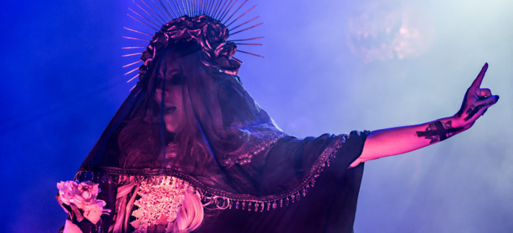 Maria Brink of In This Moment performing at The Commodore Ballroom in Vancouver, BC on November 2nd 2017