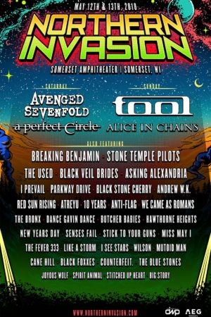 Northern Invasion Announces 2018 Lineup poster admat - May 12-13, 2018