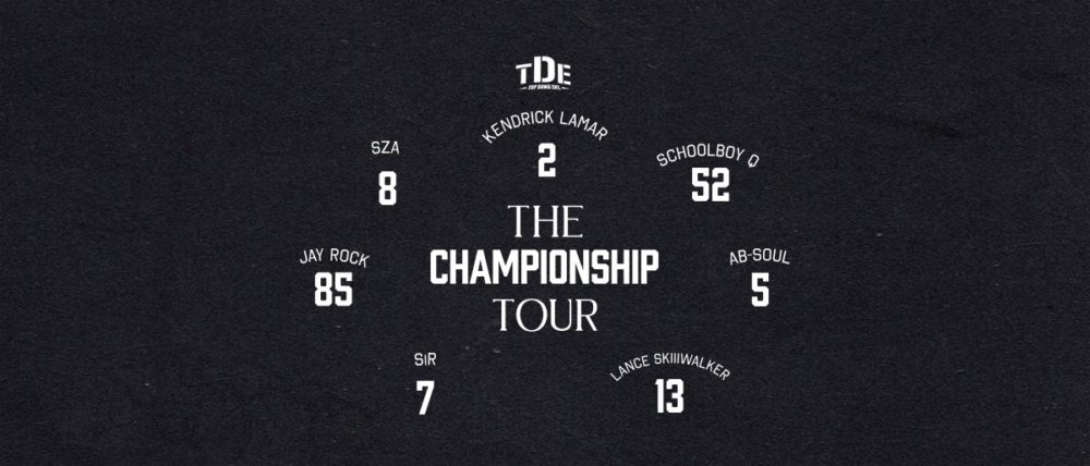 Top Dawg Entertainment Announce Full Label Tour with Kendrick Lamar + ScHoolboy Q + SZA + more
