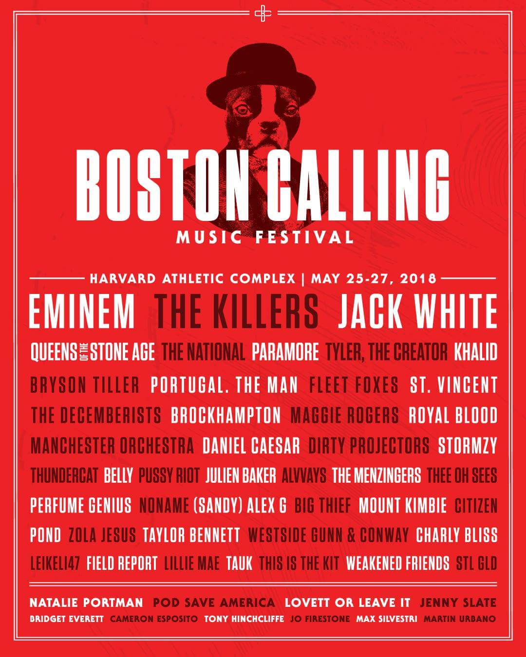Boston Calling Music Festival 2018 at Harvard Athletic Complex - May 25th, 2018 admat lineup poster