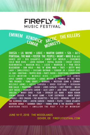 Firefly Music Festival at The Woodlands (Dover, DE) - June 14th-17th, 2018