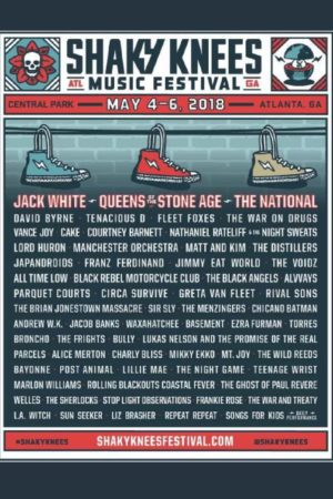 Shaky Knees Music Festival 2018 Lineup - may 4-6 2018 lineup admat poster