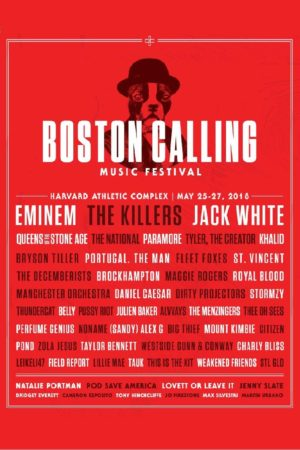 boston calling music festival harvard athlaetic park may 25-27 2018 lineup poster admat