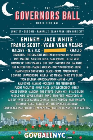 The Governors Ball Music Festival 2018 at Randall's Island Park (New York) june 1-3 2018