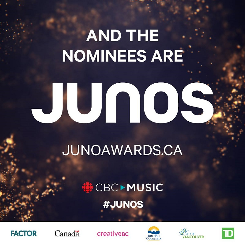Complete List of 2018 JUNO Award Nominees