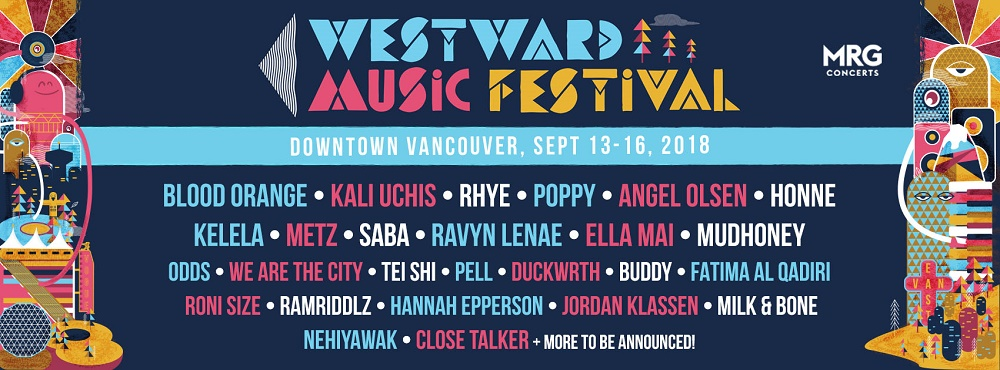 westward music festival 2018 lineup poster