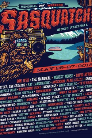 Sasquatch! Music Festival 2018 at The Gorge (Washington State) lineup admat poster