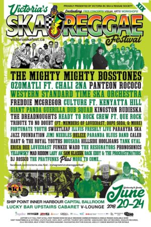Victoria Ska & Reggae Festival 2018 - June 20th-24th, 2018